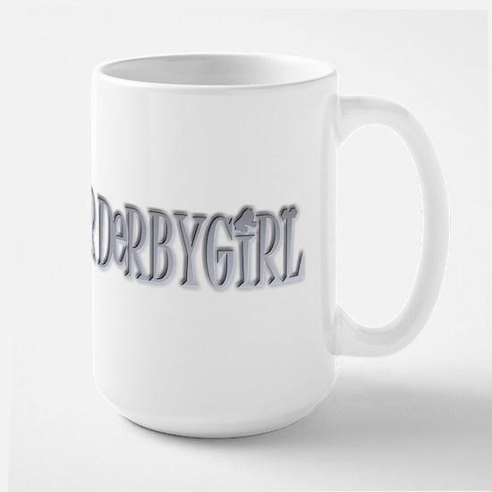 Roller Derby Girl Silver Large Mug