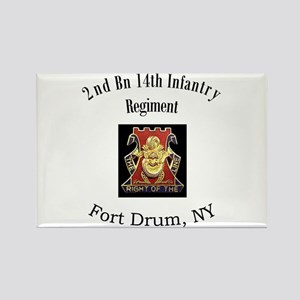 2nd 14th Inf Reg Rectangle Magnet