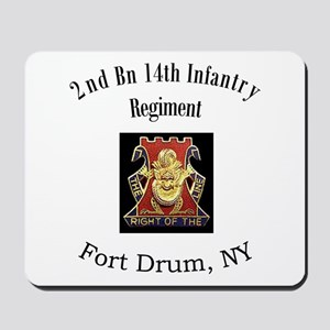 2nd 14th Inf Reg Mousepad