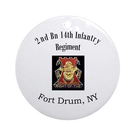 2nd 14th Inf Reg Ornament (Round)