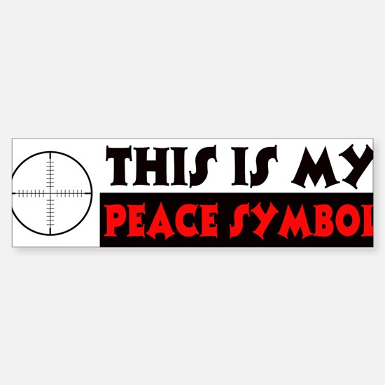 My Peace Symbol Sticker (Bumper)