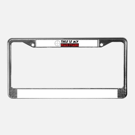 My Peace Symbol License Plate Frame