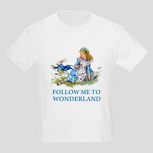 FOLLOW ME TO WONDERLAND Kids Light T-Shirt