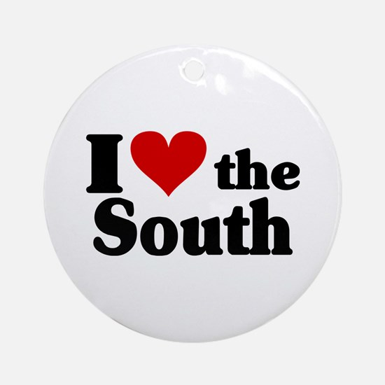 I Heart the South Ornament (Round)
