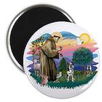 St Francis #2/ Ger Shep #2Catahoula Magnet