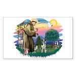 St Francis #2/ Ger Shep #2Catahoula Sticker (Recta