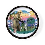 St Francis #2/ Ger Shep #2Catahoula Wall Clock