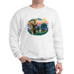 St Francis #2/ Ger Shep #2Catahoula Sweatshirt