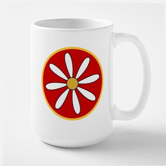 Red Daisy Large Mug