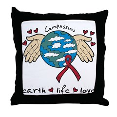 Compassion Planet Earth Throw Pillow