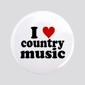 """I Heart Country Music 3.5"""" Button"""