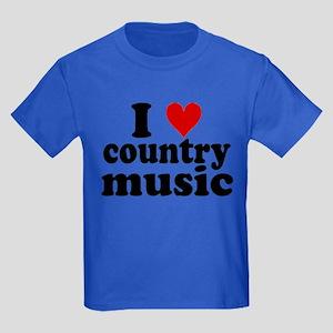 I Heart Country Music Kids Dark T-Shirt