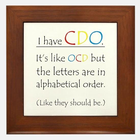 I have CDO ... Framed Tile