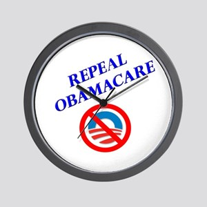 Repeal Obamacare Logo 2 Wall Clock