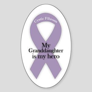 Granddaughter CF Hero Sticker (Oval)