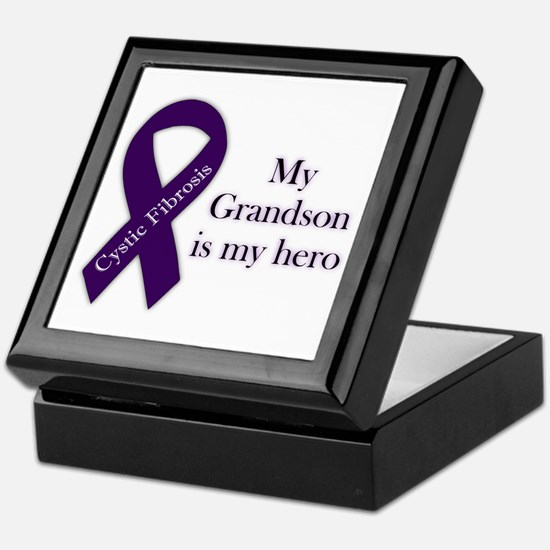 Grandson CF Hero Keepsake Box