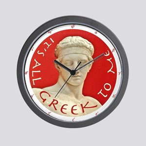 """It's All Greek to Me!"" Wall Clock"