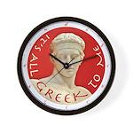 """It's All Greek to Me!"" Wall Clock"