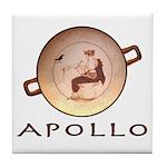 Greek God Apollo Tile Coaster