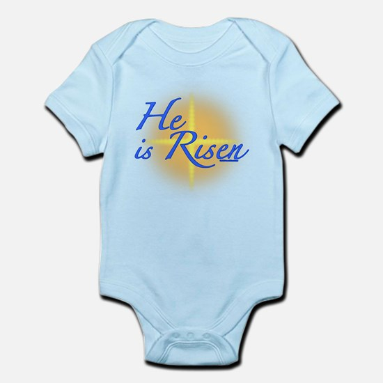 Christian easter baby gifts he is risen infant bodysuit negle Image collections