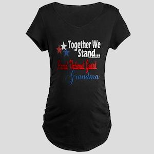 National Guard Grandma Maternity Dark T-Shirt