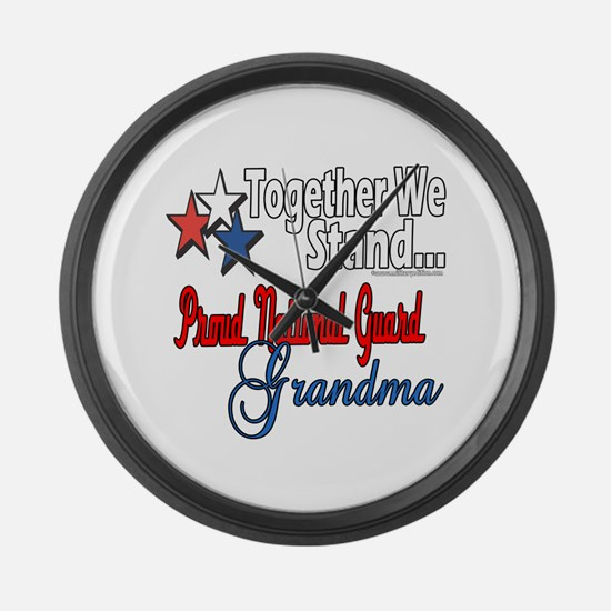 National Guard Grandma Large Wall Clock