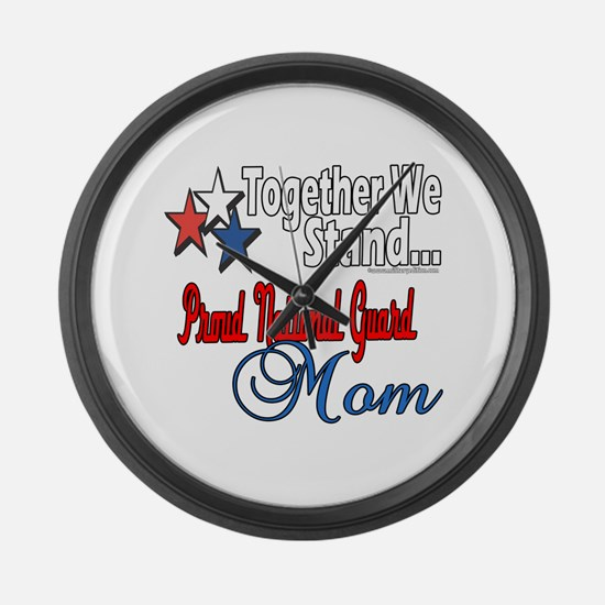 National Guard Mom Large Wall Clock