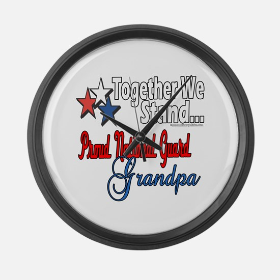 National Guard Grandpa Large Wall Clock