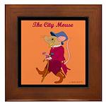 The City Mouse Framed Tile