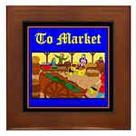 To Market Framed Tile
