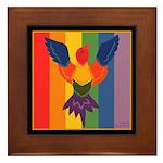Rainbow Bird Framed Tile