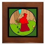 Little Red Riding Hood Framed Tile