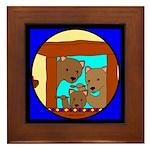 The Three Bears Framed Tile