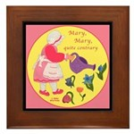 Mary, Mary, Quite Contrary Framed Tile