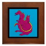 Three-Headed Dragon Framed Tile
