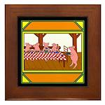 Cute Piggies Framed Tile