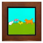 Animal Friends Framed Tile