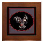 Pigeon in Flight Framed Tile