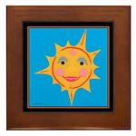 Smiling Sun Framed Tile