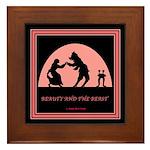 Beauty and the Beast Framed Tile