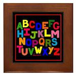 Colorful Alphabet Framed Tile