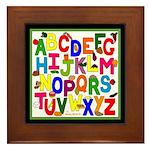 Healthy Food Alphabet Framed Tile