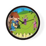 Edwardian Bunnies Wall Clock