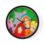 Fairy Tale Friends Wall Clock