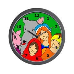 Fairy Tale Friends Wall Clock