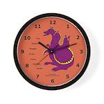 Three-Headed Dragon Wall Clock