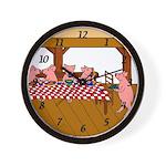 Cute Piggies Wall Clock