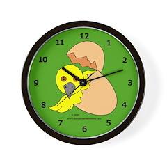 Hatching Chick Wall Clock