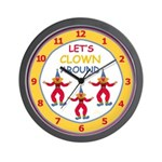 Circus Clowns Wall Clock