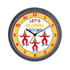 Circus Clowns Wall Clock